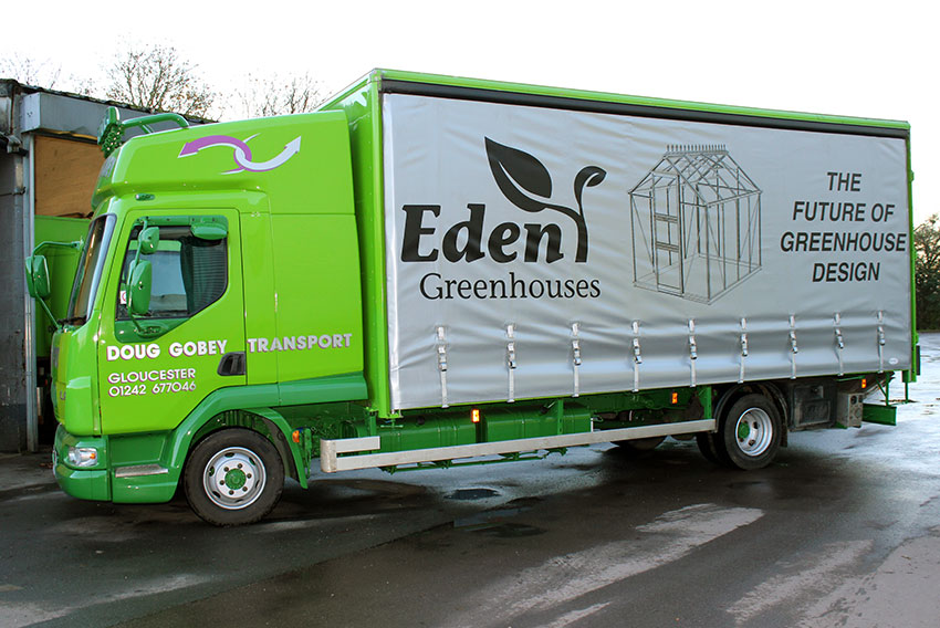 Eden Greenhouses dealership roadshow lorry