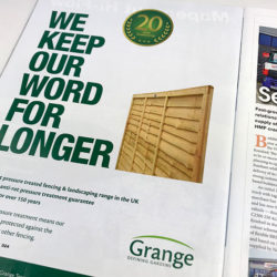 Grange full page advert