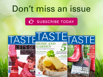 Taste don't miss an issue advert