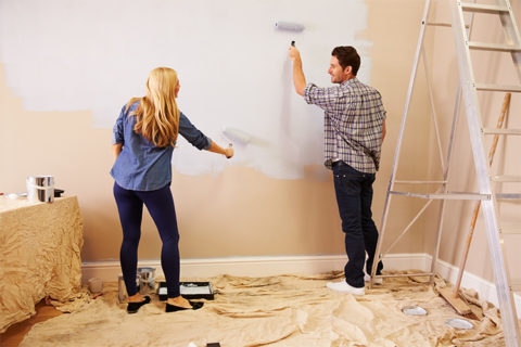 couple partaking in DIY & home improvements