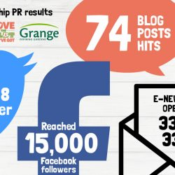 Partnership PR results infographic