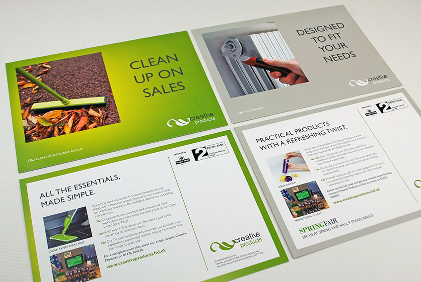 Creative Products printed mailers front and back