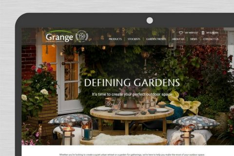 Grange new website homepage closeup