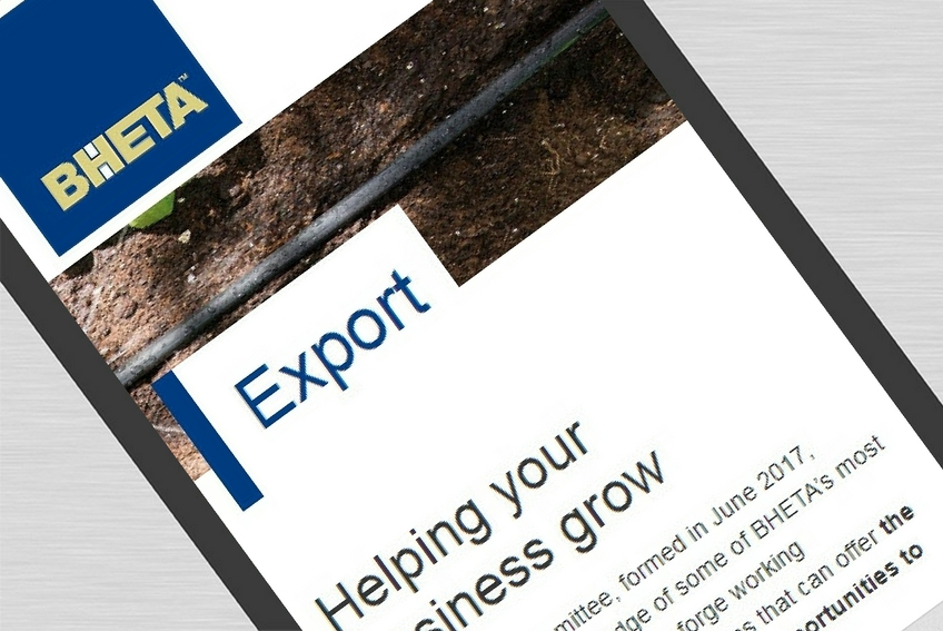 Bheta new website export mobile close up