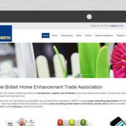 Bheta new website homepage close up