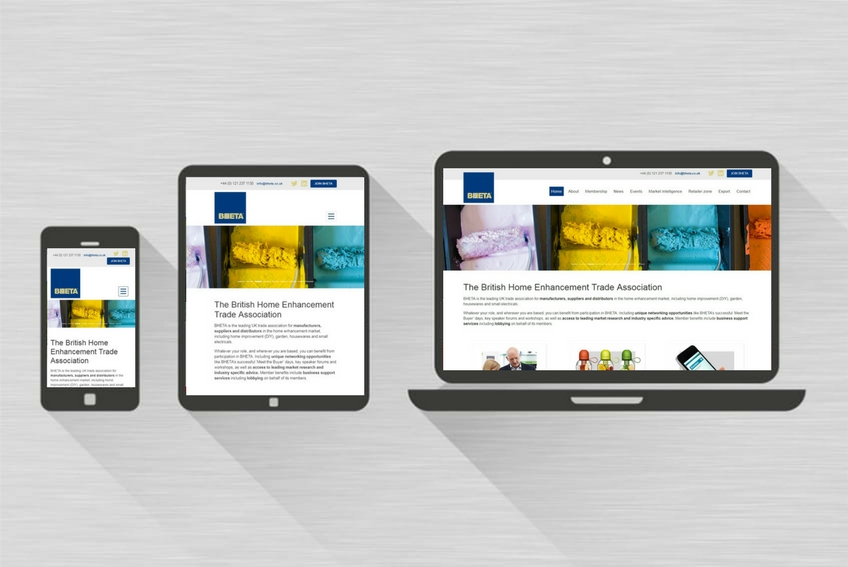 Bheta new website responsive screens