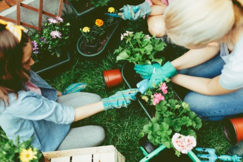 Children gardening for National Children's Gardening Week