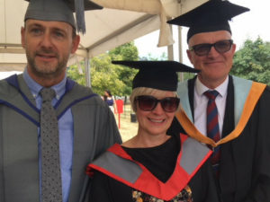 Sam's students graduate at Staffordshire University!