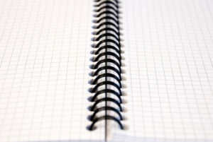 A4 wire bound square notepad