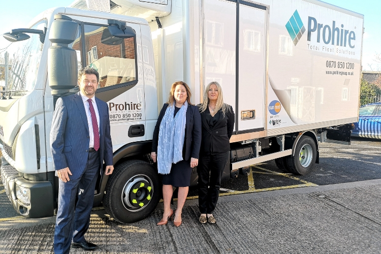 Prohire staff in front of lorry