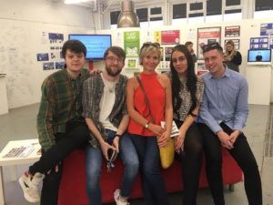 Success for Sam's Staffordshire University students