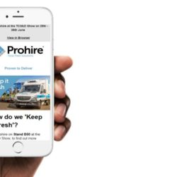 Prohire email on iPhone