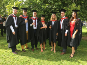 Famous Five graduate with flying Colours from Staffordshire University