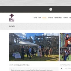 Sinai Park House Heritage Open Days Website Events Page