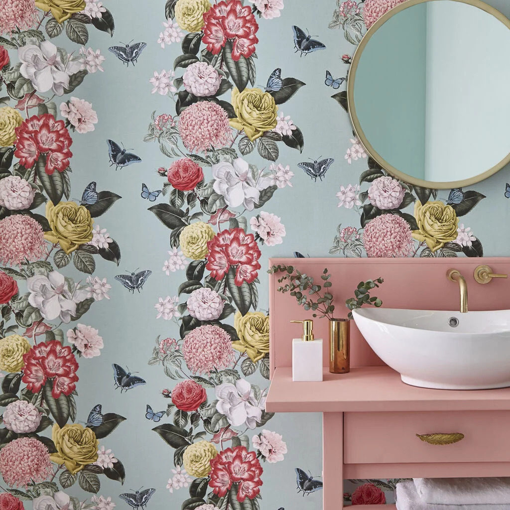 Wallpaper of the Year 2020 Bloomsbury Neo-Mint by Graham & Brown
