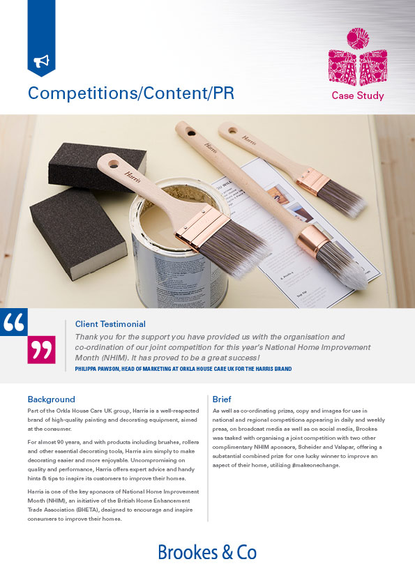 Brookes & Co Case Study, PR and Content, Harris