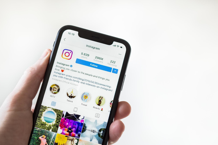 Instagram social media app on mobile