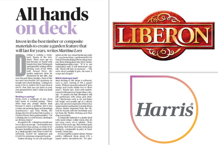 National newspaper coverage for Liberon